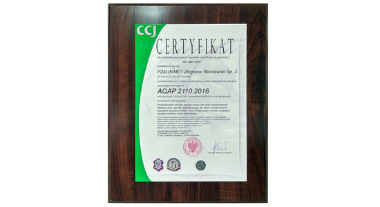 Certyfikat AQAP