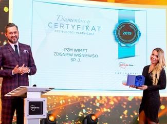 Wręczenie Certyfikatu Rzetelności dla PZM Wimet