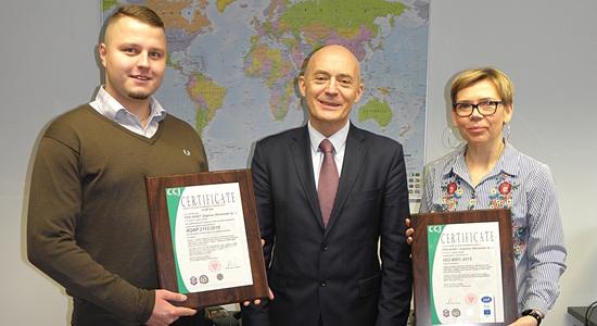 Oficjalne wręczenie Certyfikatów w siedzibie PZM Wimet