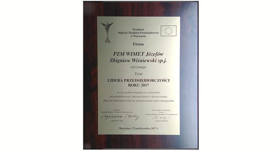 Nagroda Lidera Przedsiębiorczości Roku 2017