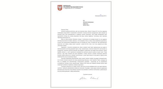 Gratulacje Marszałka Wojewódzkiego