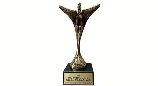 Statuetka Lidera Przedsiębiorczości Roku 2017